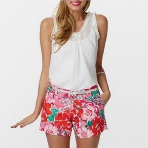 Lilly Pulitzer A Thing Called Love Floral Shorts